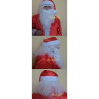 Kit Barba Com Bigode E Peruca Luxo - Papai Noel - Fantasia