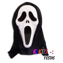 Máscara Do Pânico Com Capuz Fantasia Festa Adereço Cosplay