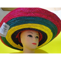 Chapeu Mexicano Colorido De 55cm