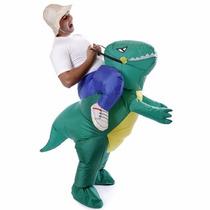 Fantasia Inflável Dinossauro Verde Yoshi Criativa Engraçada