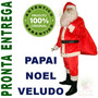 Fantasia Papai Noel Veludo Roupa Completa Luxo Com 12 Itens