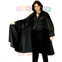 Capa Com Capuz Para Halloween Vampiro Drácula Bruxa Morte