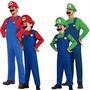 Fantasia Mario Bros/luigi! Sob Medida Adulto E Infantil