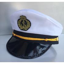 Chapéu Quepe Capitão Marinha Marinheiro Fantasia Festa Aeio