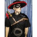 Zorro Capa Preta El Mariati Chicote Espadão Arma Mascara