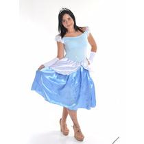 Fantasia Cinderela Adulto Estrela