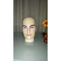Cabeça Manequin Feminino P/peruca Óculos Boné Chapeu