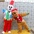 Fantasia Cabeção Boneco De Neve E Biscoito Natal Super Luxo