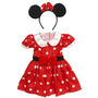 Fantasia Minnie Mouse Disney Vestido Com Tiara 3 A 4 Anos