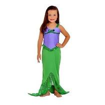 Fantasia Pequena Sereia Ariel Vestido Infantil Sulamericana