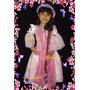 Fantasia Vestido Luxo Princesa Rapunzel Enrolados C/ Trança