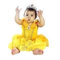Fantasia Bela Da Fera Baby Bebe Roupa Pp 1 Ano Princesas
