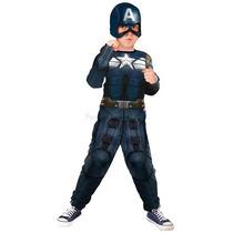 Fantasia Capitão America 2 Infantil Longa Vingadores Marvel