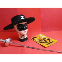 Fantasia Infantil Zorro Espada Chapeu Mascara Bigode Barba
