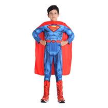 Fantasia Super Homem Premium Dc Superman Peitoral Tam M(6-8)