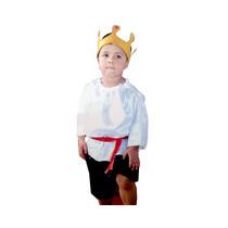 Fantasia Festa Carnaval Principe Infantil Masuclino Tamanho3