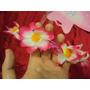 Fantasia Infantil Havaiana Rosa Pink Coroa Saia E Varinha
