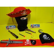 Kit Fantasia Infantil Jack Sparrow Mascara Pirata Chapeu