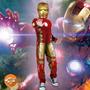 Fantasia Homem De Ferro Iron Man 2 Luxo Músculos Rubies