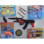 Super Kit Policial Fantasia Algema Pistola Revolver Metralha