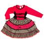 Vestido Caipira Pink E Preto