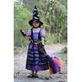 Halloween: Vestido Fantasia Infantil Bruxa Floresta Luxo