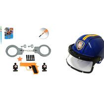 Kit Policial Infantil Força Tática E Capacete Frete Grátis