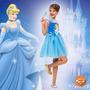 Fantasia Princesa Cinderela Curta Com Máscara Rubies