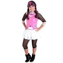 Fantasia Monster High Rosa Draculaura Gg - Sulamericana