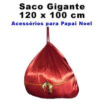 Saco De Presentes Para Papai Noel Natal - Gigante 120x100cm