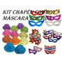 Kit Festa C/ 25 Chapéu Cowboy + 25 Máscara Frete Grátis