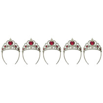 Coroa Tiara Bloco Carnaval Festa Infantil Fantasia Kit Com 5