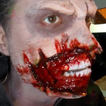 Kit Slug Maquiagem Terror ° Massa Mágica Sangue E Queimadura