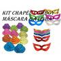 Kit C/ 15 Chapéu Cowboy + 15 Máscara Gatinha - Festa, Balada