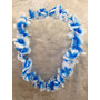 05 Colar Havaiano Azul E Branco Fantasia