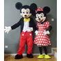 Fantasia Mickey E Minnie Cabeção Animação De Festa Luxo