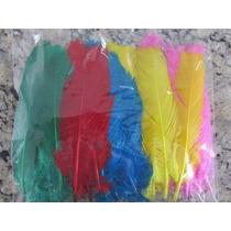 Penas Coloridas 50 Unidades Artesanato Fantasias Carnaval