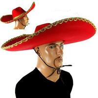 Grande Chapeu Mexicano Bordado Para Festas Fantasia