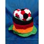 Cartola Com Três Bolas De Futebol Aniversário Festa Chapéu