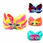Kit Com 6 Máscara Carnaval Penas Cores Sortidas Frete Grátis