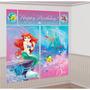 Kit Decoração Festa Infantil Com Painel Princesa Ariel