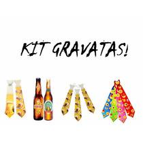 Kit C/ 60 Gravata - Casamento, Balada, Festa - Frete Grátis!