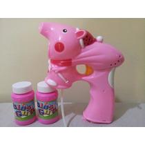 Brinquedo Á Pilha Lançador De Bolhas De Sabão Peppa Pig.
