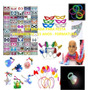 Kit Adereços Com Neon,piscas,chapéus,pluminhas,óculos,tiaras