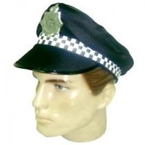 Kit Policial Com 1 Quepe + 1 Algema Metalizada + 1 Broche