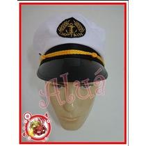 Chapéu Quepe Capitão Marinha Marinheiro Fantasia Festa Boina
