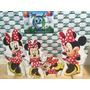 Kit Displays De Chão Minnie Vermelha 8 Peças, Totens Painel