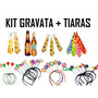 Kit C/ 20 Gravata + 20 Tiara - Casamento, Balada, Festa