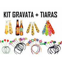 Kit C/ 10 Gravata + 10 Tiara - Casamento, Balada, Festa