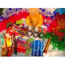 Kit Festa C/ 214 Itens - Colar Havaiano, Tiara, Óculos, Neon